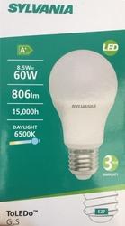 SYLVANIA 8.5W LED AMPUL E27 (6500K/BEYAZ IŞIK)